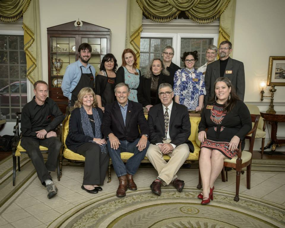 2013 Governor's Mansion Fundraising Event with Actor Elliot Gould and OFS  Volunteers, Staff, and Board